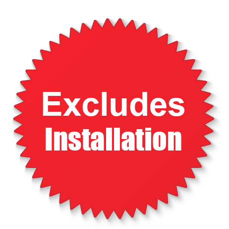 excludes installation