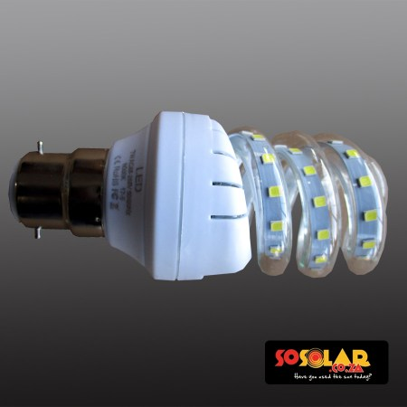 HL-202 B22-7W LED bulb (Spiralled energy saving lamp)