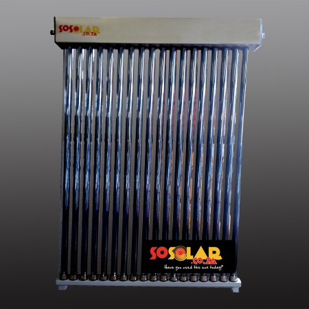 Solar water collector low pressure